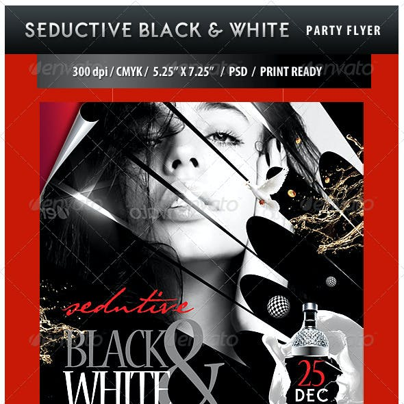 Seductive Black and White Party Flyer