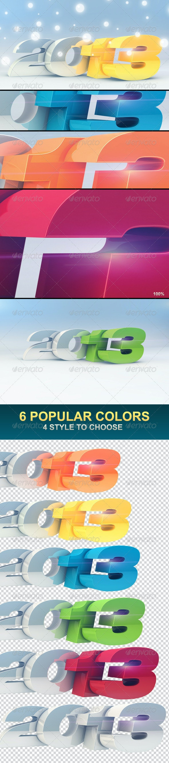 2013 Chrome Pack - Text 3D Renders