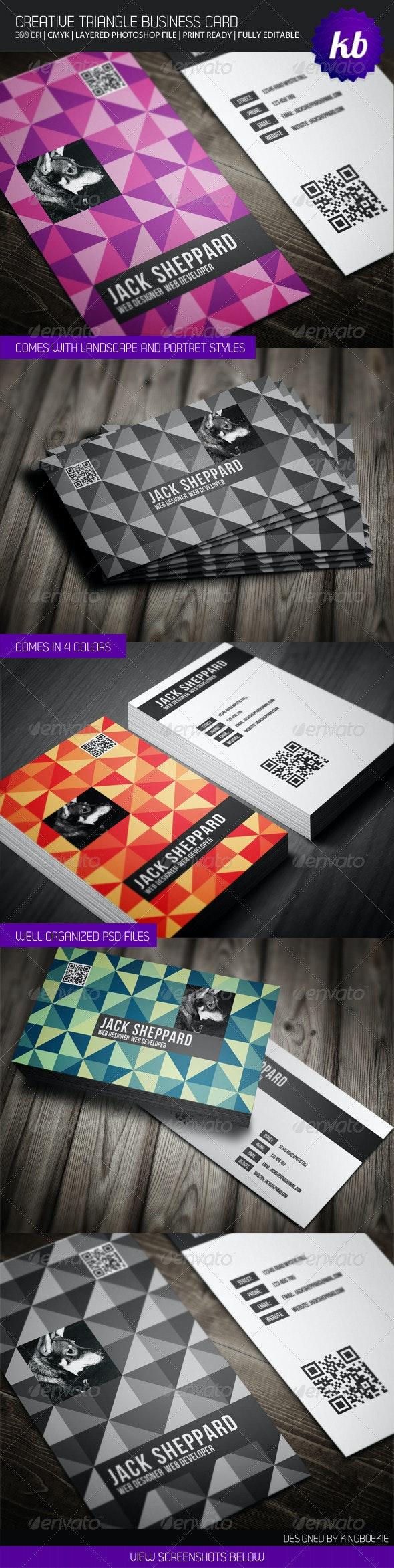Creative Triangle Business Card - Creative Business Cards