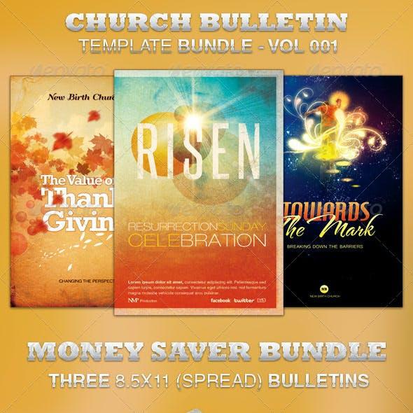 Church Bulletin Template Bundle-Vol 001