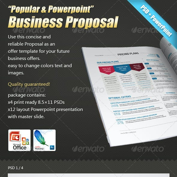 """""""Popular & Powerpoint""""- Business Proposal+Contract"""