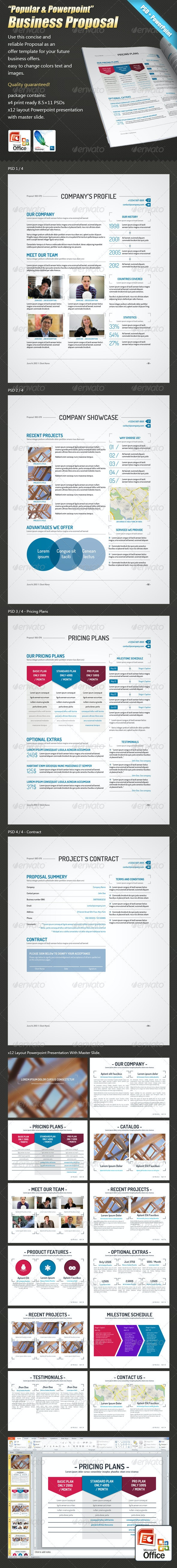 """""""Popular & Powerpoint""""- Business Proposal+Contract - Proposals & Invoices Stationery"""
