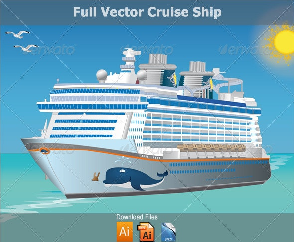 Vector Cruise Sailing Ship - Travel Conceptual