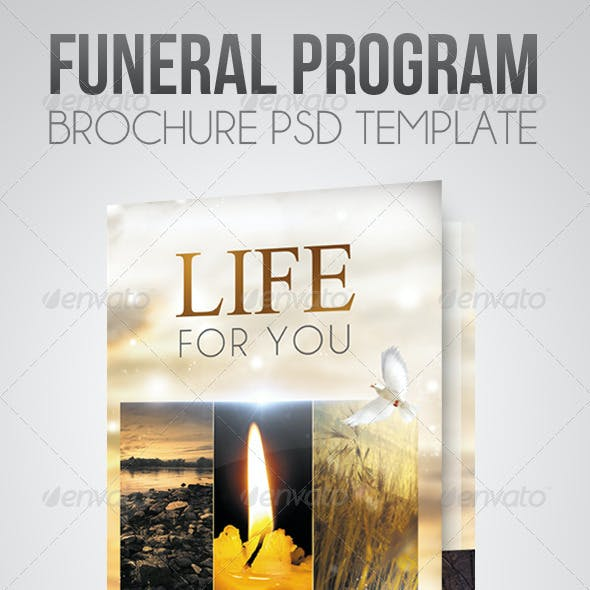 Life for you - Funeral Program Brochure Template