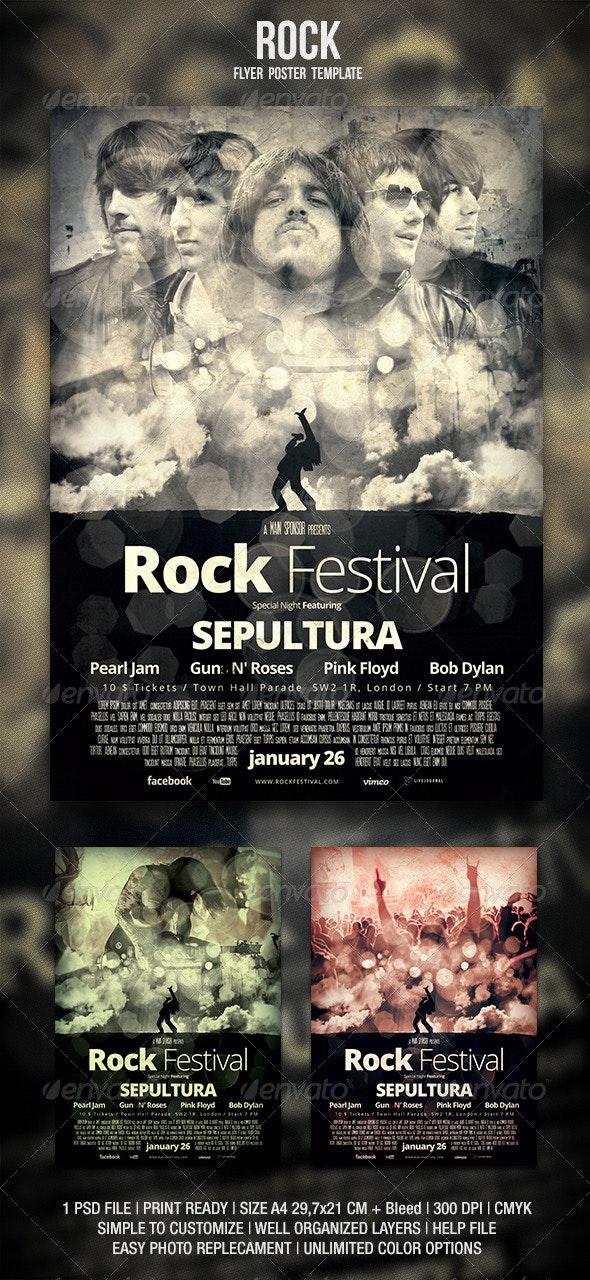 Rock Flyer / Poster 3 - Concerts Events