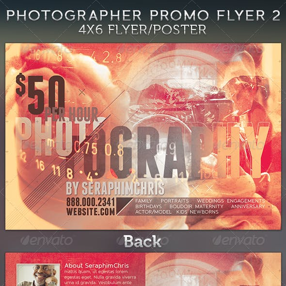 Photographer Promotional Flyer Template 2