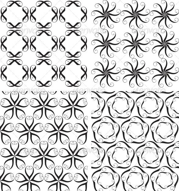 Four Seamless Patterns - Patterns Decorative