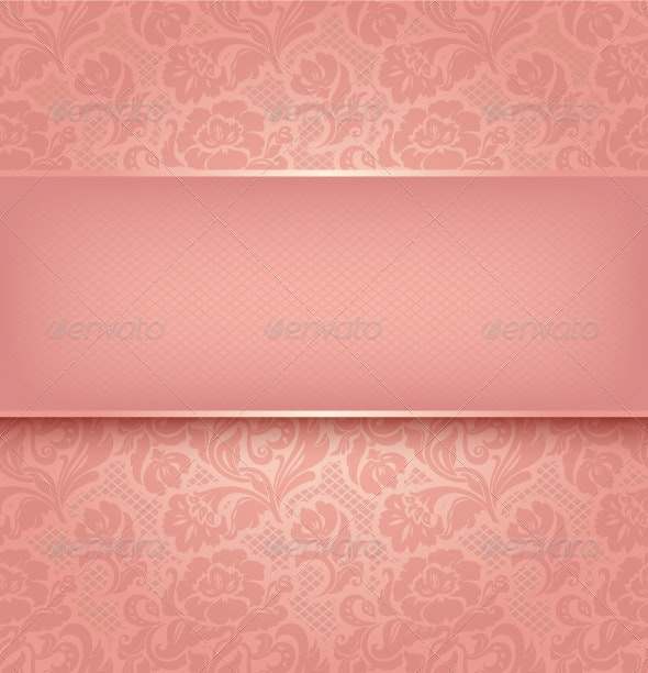 Lace Background, Pink Ornament - Backgrounds Decorative