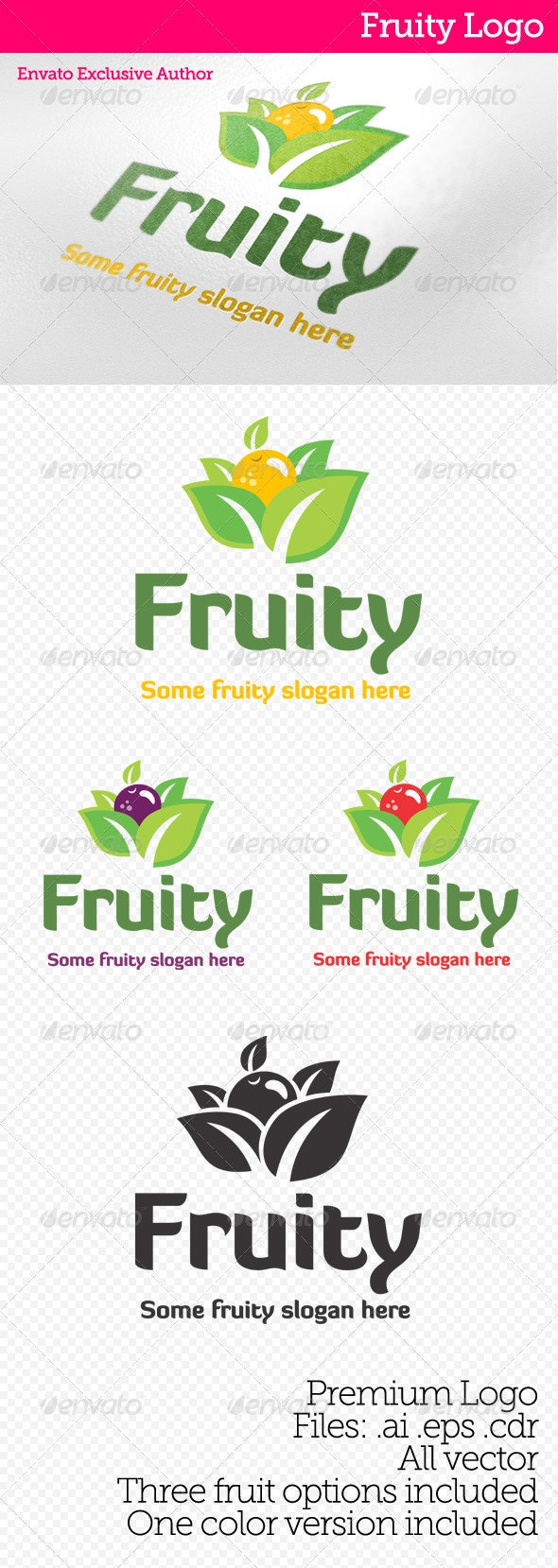 Fruity Logo - Food Logo Templates