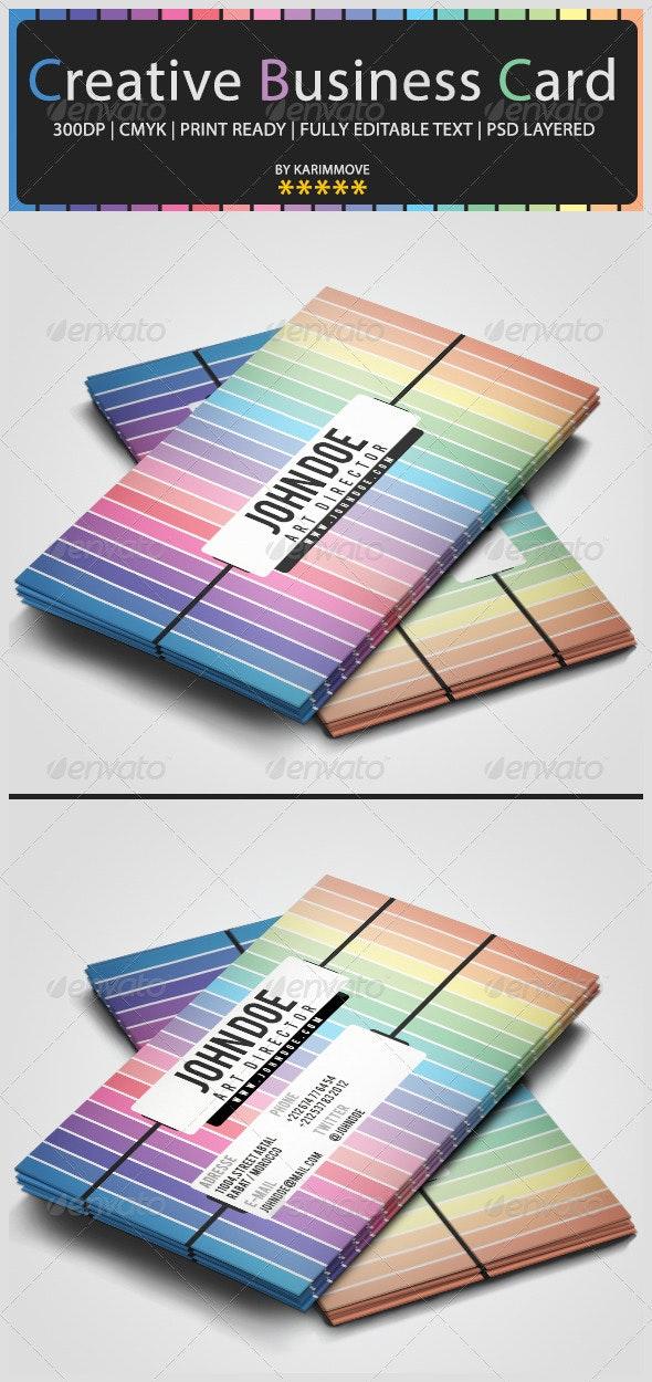 Creative Pastel Rainbow Business Card - Creative Business Cards