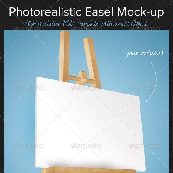 Photorealistic Easel Mock-Up