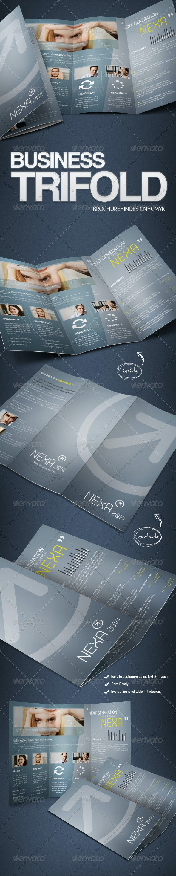 Business Tri-Fold Brochure  - Corporate Brochures