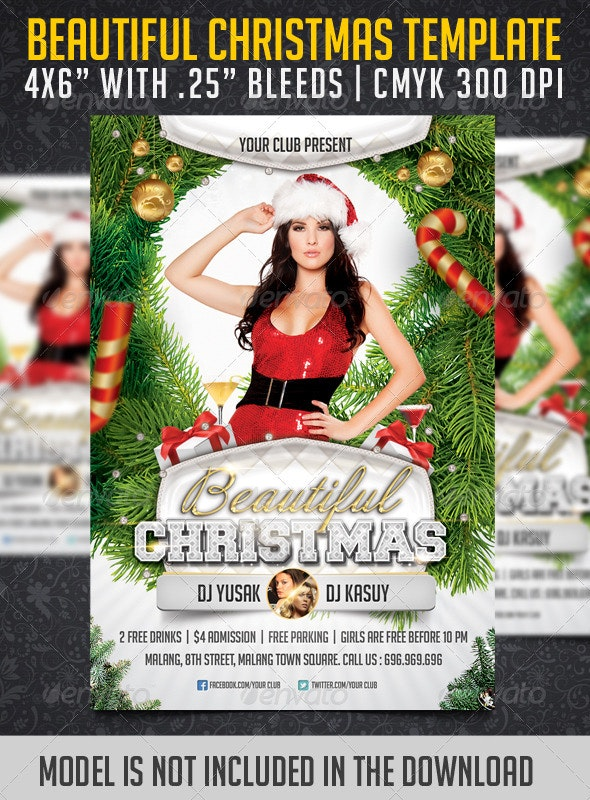 Beautiful Chistmas Flyer Template - Clubs & Parties Events