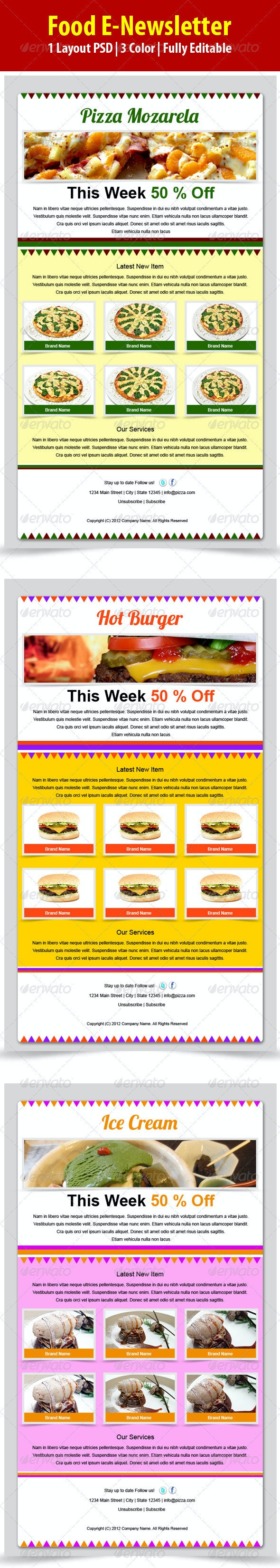 Food E-newsletter - E-newsletters Web Elements