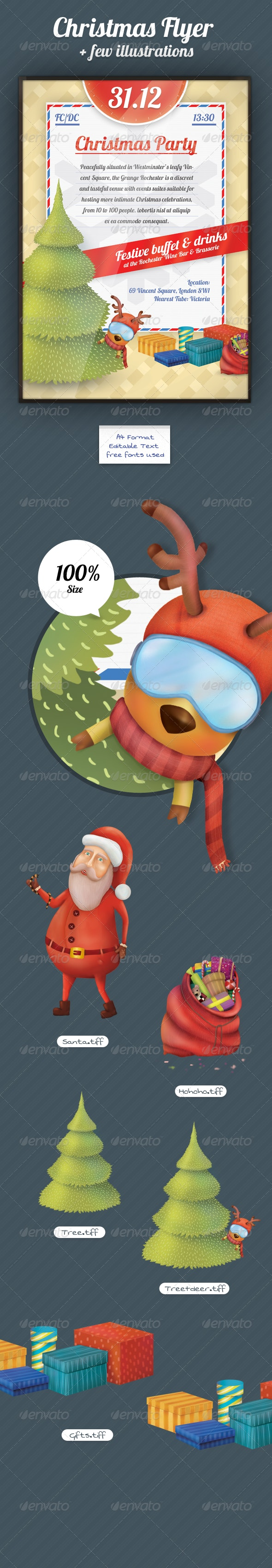 Xmas Flyer & Mascot - Holidays Events