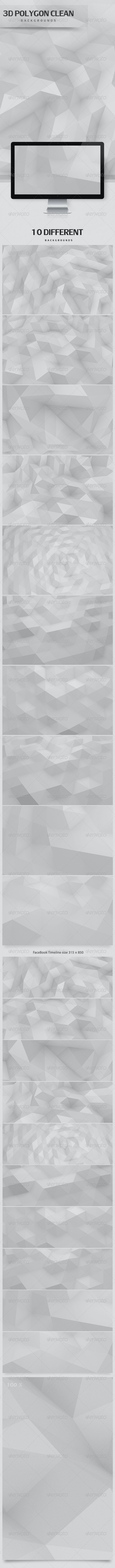 3D Polygon Clean Backgrounds - 3D Backgrounds