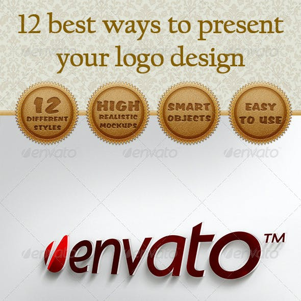 12 Logo Presentation Mockups