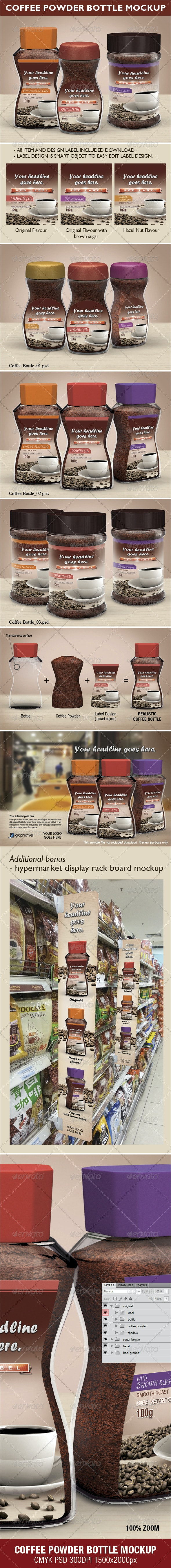 Coffee Powder Bottle Mock-up - Food and Drink Packaging