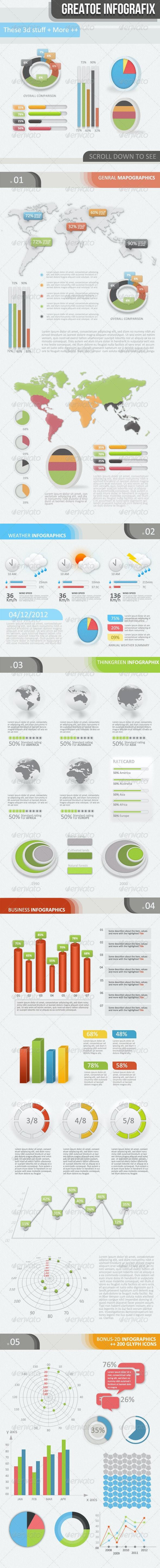 3D - 2D Infographic Elements Kit - Infographics