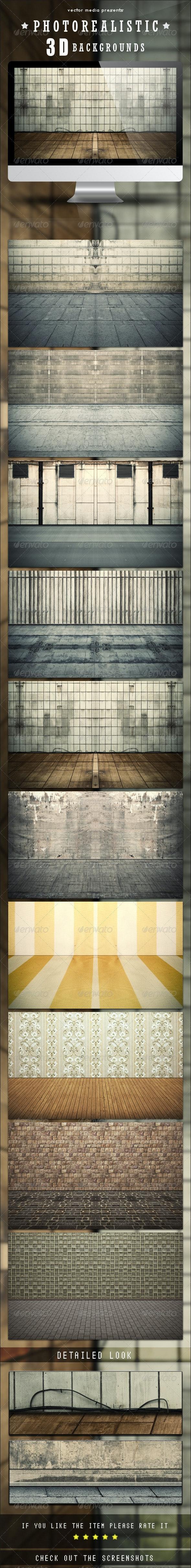 Photorealistic 3D Backgrounds - 3D Backgrounds