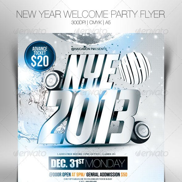 New Year Welcome Party Flyer