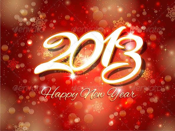 New Year Background - Christmas Seasons/Holidays