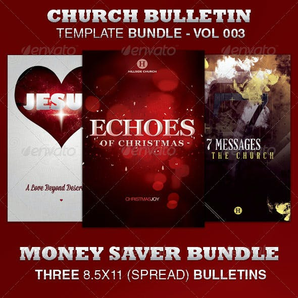 Church Bulletin Template Bundle-Vol 003