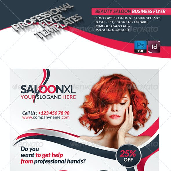 Beauty Salon Business Flyer