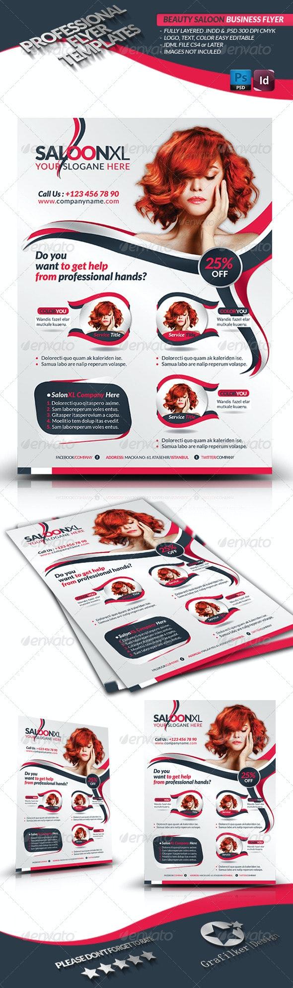 Beauty Salon Business Flyer - Corporate Flyers