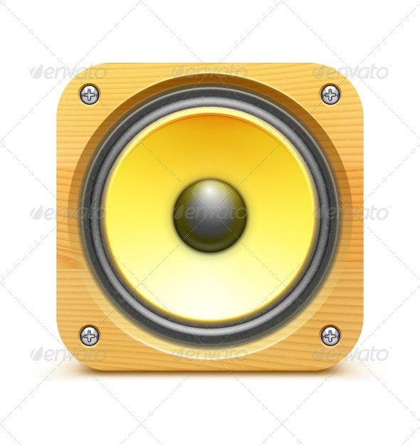 Sound Loud Speaker Icon - Retro Technology