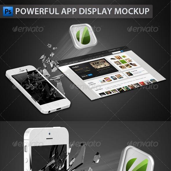 White Phone App Display Mockup