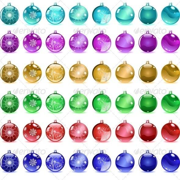Multicolored Christmas Balls - Christmas Seasons/Holidays