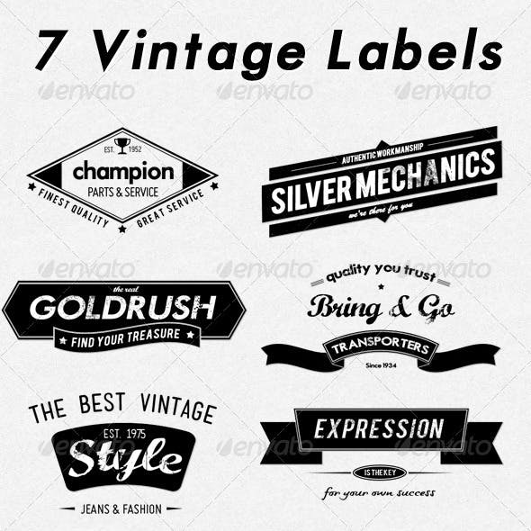 7 Retro Labels