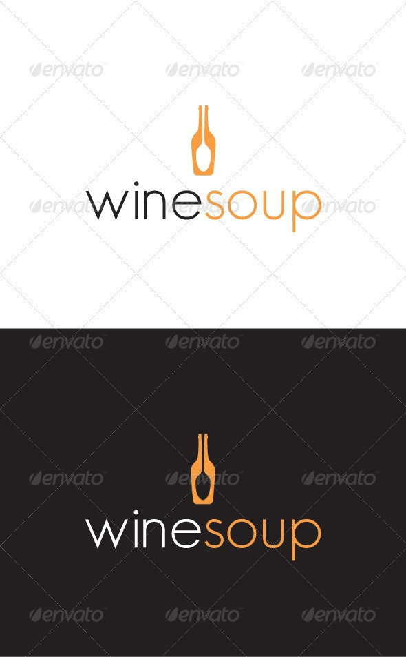 Winesoup Logo - Food Logo Templates