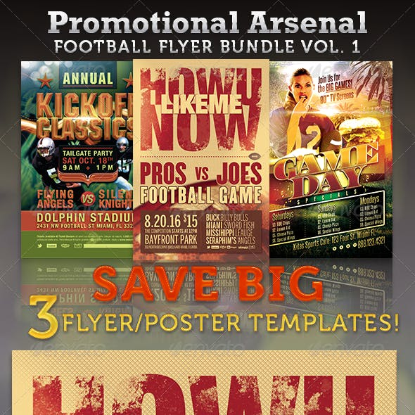 Promotional Arsenal Football Flyer Bundle