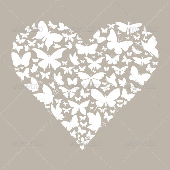 Butterfly Heart - Valentines Seasons/Holidays