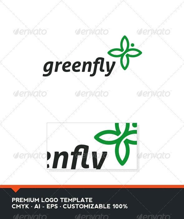 Green Fly Logo Template - Nature Logo Templates