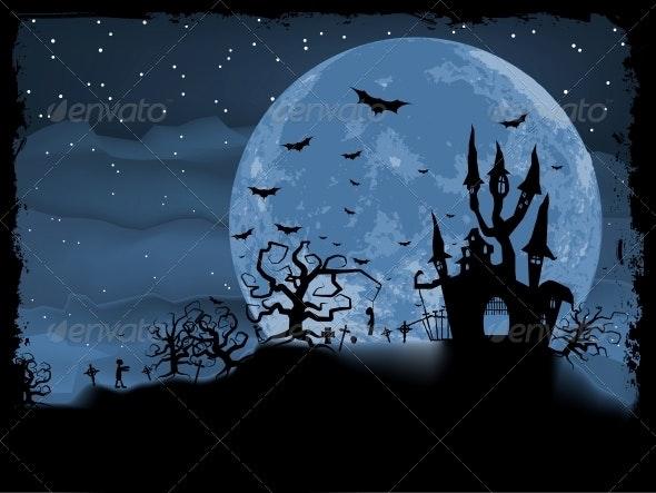 Halloween Poster with Zombie - Halloween Seasons/Holidays