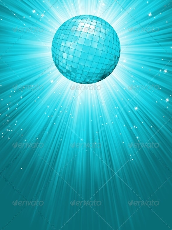 Party Banner with Disco Ball - Backgrounds Decorative