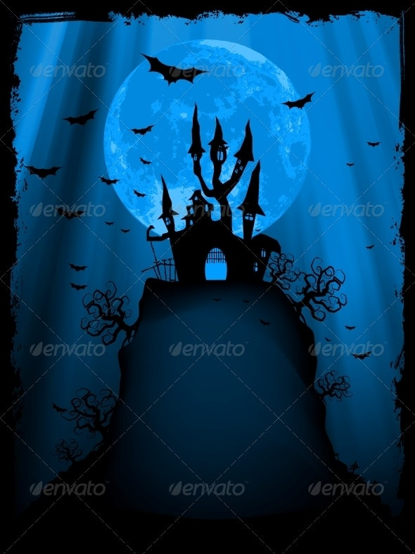 Halloween Image with Old Mansion - Halloween Seasons/Holidays