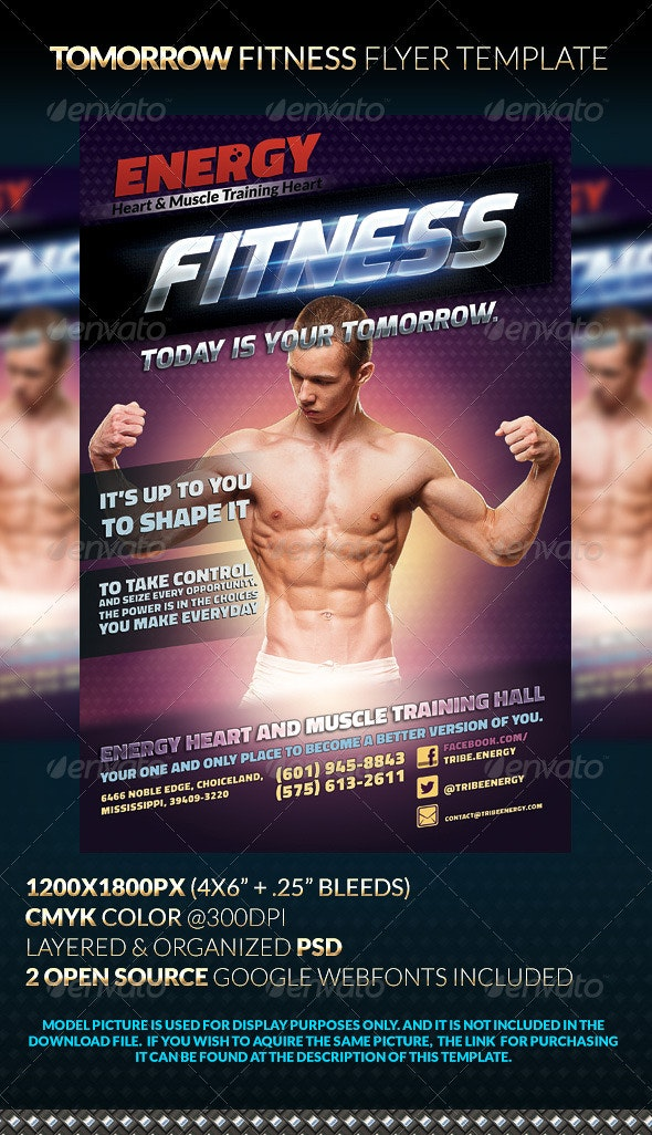 Tomorrow Fitness Flyer Template - Sports Events