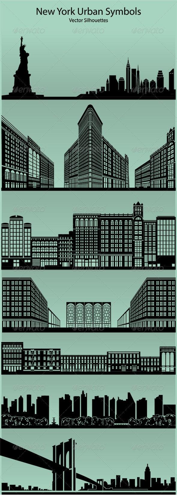 New York Urban Symbols - Buildings Objects