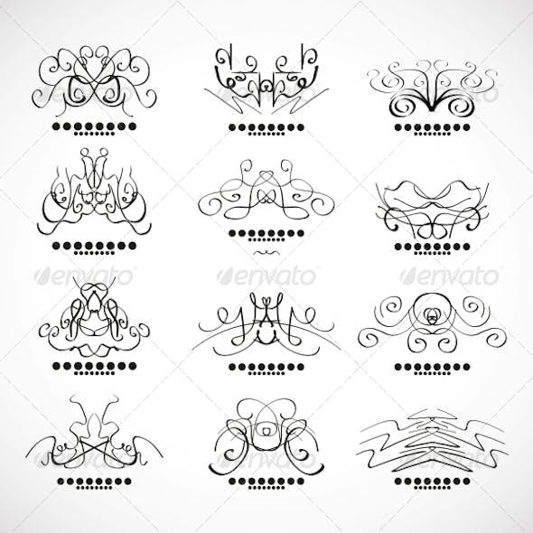 Calligraphic Decoration Elements for Headline
