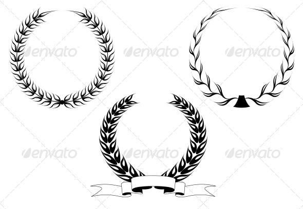 Set of Laurel Wreaths - Decorative Symbols Decorative