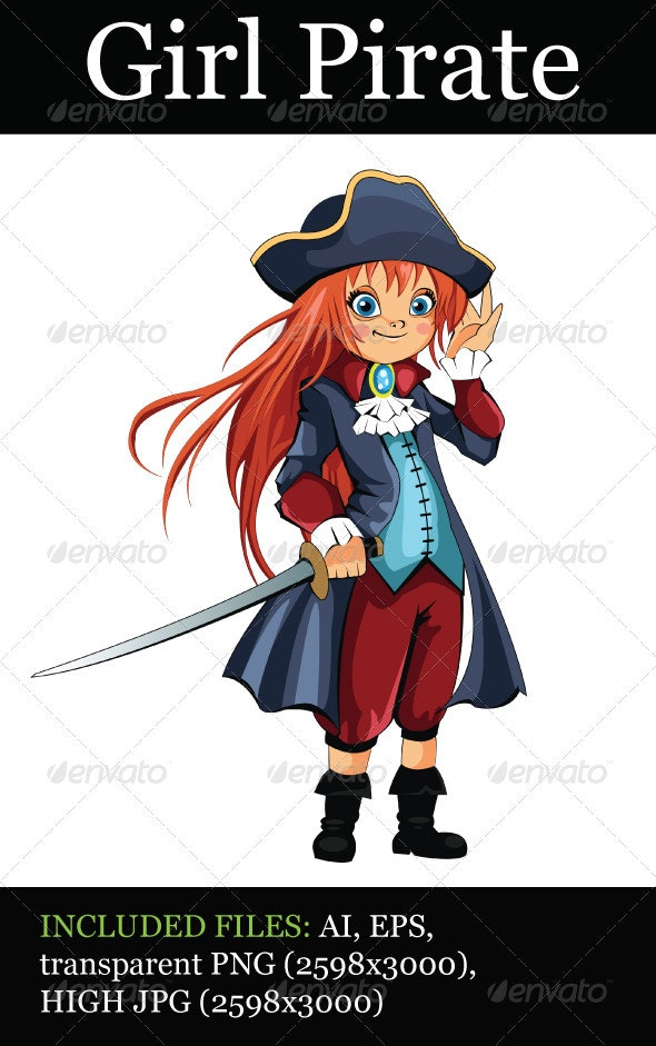 Girl Pirate - People Characters