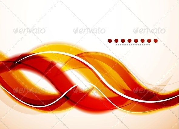 Modern Detailed Abstract Background: Orange Waves - Backgrounds Decorative