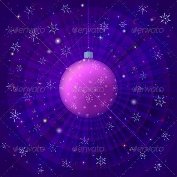 Background with Christmas Ball - Christmas Seasons/Holidays