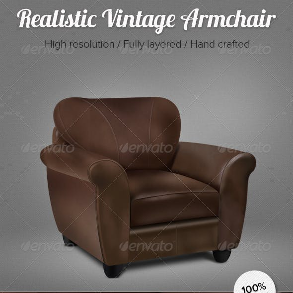 Realistic Vintage Armchair