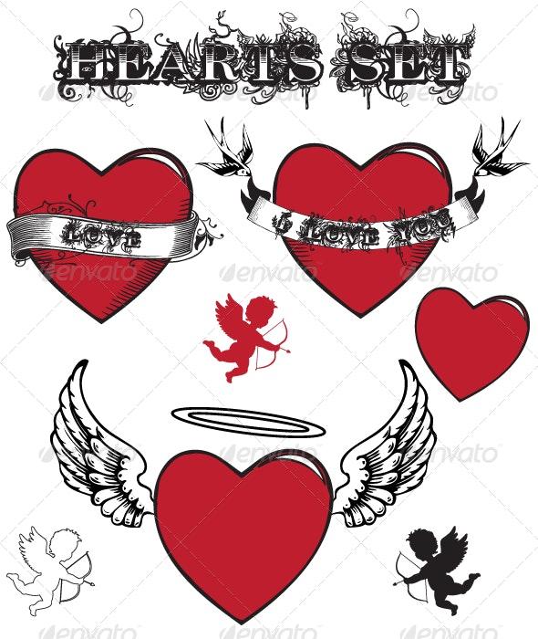 Hearts / Valentine's Set - Valentines Seasons/Holidays