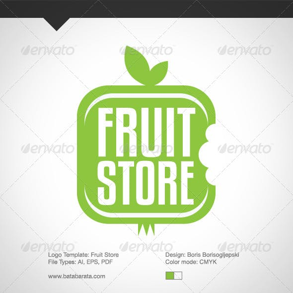 Fruit Store Logo Template